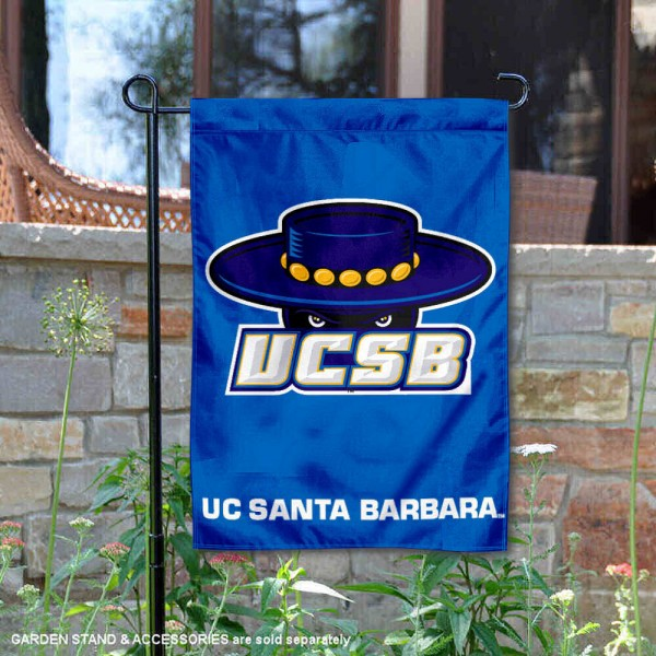 UCSB Gauchos Garden Flag is 13x18 inches in size, is made of 2-layer polyester, screen printed UCSB Gauchos athletic logos and lettering. Available with Same Day Express Shipping, Our UCSB Gauchos Garden Flag is officially licensed and approved by UCSB Gauchos and the NCAA.
