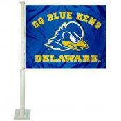 UD Blue Hens Logo Car Flag