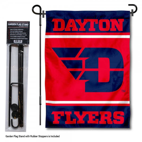 "UD Flyers Garden Flag and Pole Stand Holder kit includes our 13""x18"" garden banner which is made of 2 ply poly with liner and has screen printed licensed logos. Also, a 40""x17"" inch garden flag stand is included so your UD Flyers Garden Flag and Pole Stand Holder is ready to be displayed with no tools needed for setup. Fast Overnight Shipping is offered and the flag is Officially Licensed and Approved by the selected team."