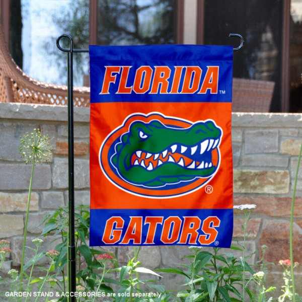 UF Gators Yard Flag is 13x18 inches in size, is made of 2-layer polyester, screen printed Florida athletic logos and lettering. Available with Same Day Express Shipping, Our UF Gators Yard Flag is officially licensed and approved by Florida and the NCAA.