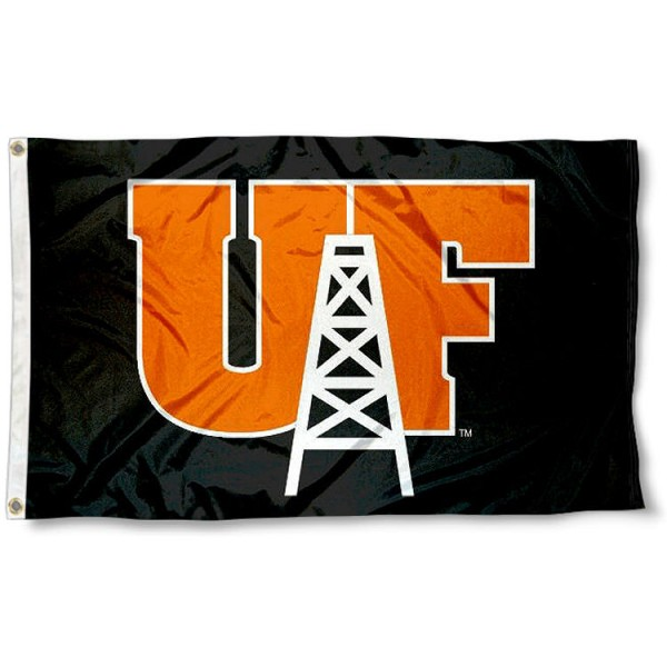 UF Oilers Logo Flag measures 3'x5', is made of 100% poly, has quadruple stitched sewing, two metal grommets, and has double sided Team University logos. Our UF Oilers 3x5 Flag is officially licensed by the selected university and the NCAA.