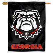 UGA Bulldogs Black Banner Flag