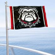 UGA Bulldogs Black Boat Flag
