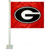 UGA Bulldogs Car Window Flag