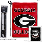 UGA Bulldogs Double Sided Logo Garden Flag and Stand