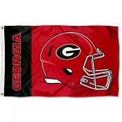 UGA Bulldogs Football Helmet Flag