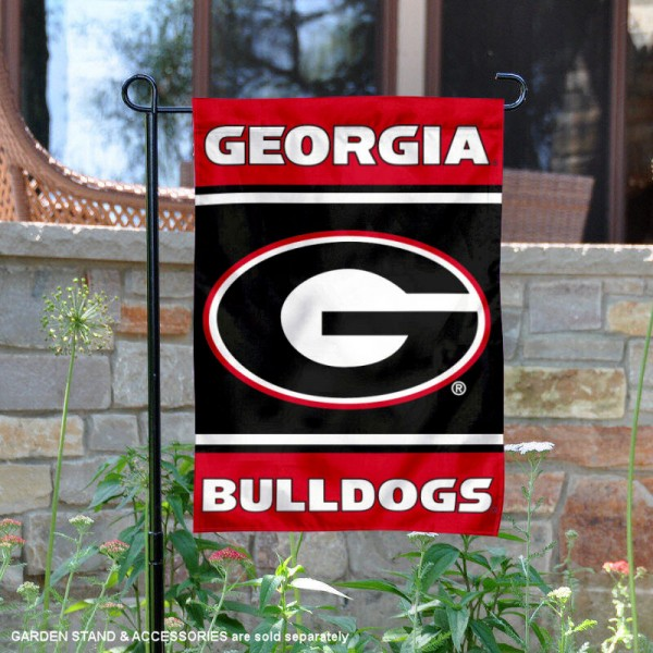 UGA Bulldogs Garden Flag is 13x18 inches in size, is made of 2-layer polyester, screen printed logos and lettering. Available with Same Day Express Shipping, Our UGA Bulldogs Garden Flag is officially licensed and approved by the NCAA.