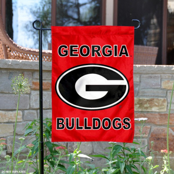 UGA Bulldogs Garden Flag is 13x18 inches in size, is made of 2-layer polyester, screen printed University of Georgia athletic logos and lettering. Available with Same Day Express Shipping, Our UGA Bulldogs Garden Flag is officially licensed and approved by University of Georgia and the NCAA.