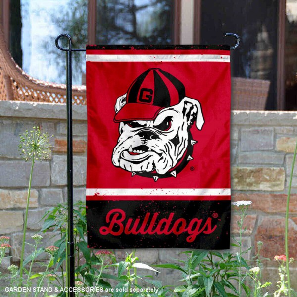 UGA Bulldogs Vintage Vault Garden Flag is 12x18 inches in size, is made of 1-layer polyester, screen printed logos and lettering, and is viewable on both sides. Available same day shipping, our UGA Bulldogs Vintage Vault Garden Flag is officially licensed and approved by the university and the NCAA.