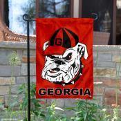 UGA Dawg Garden Flag