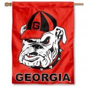 UGA Dawgs Double Sided House Flag