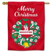 UH Cougars Happy Holidays Banner Flag