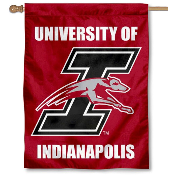 UIndy Greyhounds Logo House Flag is a vertical house flag which measures 30x40 inches, is made of 2 ply 100% polyester, offers screen printed NCAA team insignias, and has a top pole sleeve to hang vertically. Our UIndy Greyhounds Logo House Flag is officially licensed by the selected university and the NCAA.