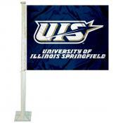UIS Prairie Stars Logo Car Flag