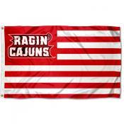 UL Lafayette Ragin Cajuns Stripes Flag