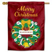 UL Monroe Warhawks Happy Holidays Banner Flag