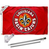 ULL Ragin Cajuns Fleur Flag Pole and Bracket Kit