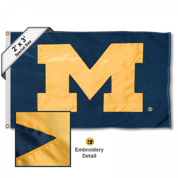 UM Wolverines Small 2'x3' Flag
