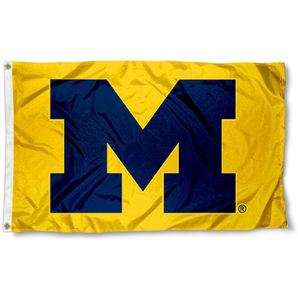 UM Wolverines Yellow 3x5 Foot Flag measures 3x5 feet, is made of 100% polyester, offers quadruple stitched flyends, has two brass grommets, and offers screen printed NCAA team logos and insignias. Our UM Wolverines Yellow 3x5 Foot Flag is officially licensed by the selected university and NCAA.