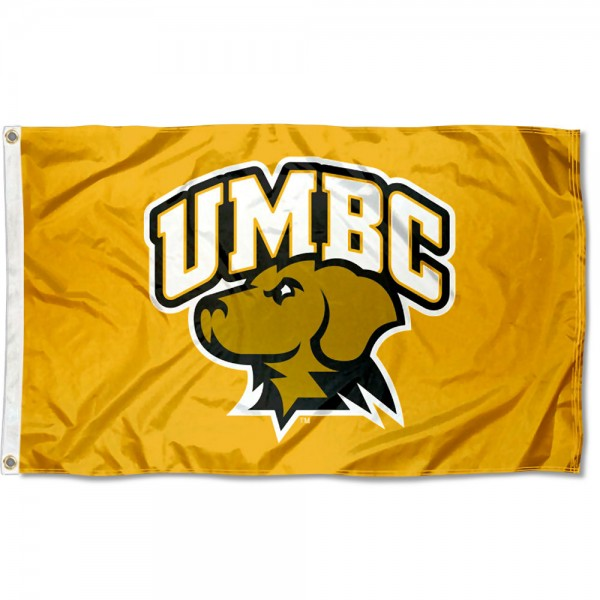 UMBC Retrievers Gold Flag measures 3x5 feet, is made of 100% polyester, offers quadruple stitched flyends, has two metal grommets, and offers screen printed NCAA team logos and insignias. Our UMBC Retrievers Gold Flag is officially licensed by the selected university and NCAA.