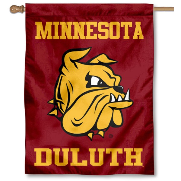 UMD Bulldogs New Logo Double Sided House Flag is a vertical house flag which measures 30x40 inches, is made of 2 ply 100% polyester, offers screen printed NCAA team insignias, and has a top pole sleeve to hang vertically. Our UMD Bulldogs New Logo Double Sided House Flag is officially licensed by the selected university and the NCAA.