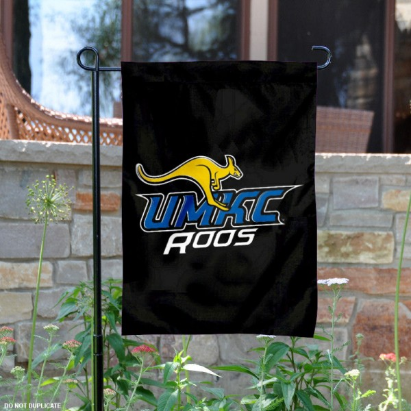 UMKC Kangaroos Black Garden Flag is 13x18 inches in size, is made of 2-layer polyester, screen printed university athletic logos and lettering. Available with Same Day Express Shipping, our UMKC Kangaroos Black Garden Flag is officially licensed and approved by the university and the NCAA.