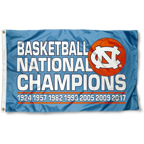 UNC 7 Time Basketball Champions Flag measures 3x5 feet, is made of 100% polyester, offers quadruple stitched flyends, has two metal grommets, and offers screen printed team logos and insignias. Our UNC 7 Time Basketball Champions Flag is officially licensed by the selected university and .