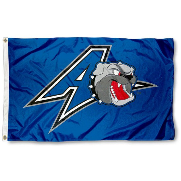 UNC Asheville Bulldogs Flag is made of 100% nylon, offers quad stitched flyends, measures 3x5 feet, has two metal grommets, and is viewable from both side with the opposite side being a reverse image. Our UNC Asheville Bulldogs Flag is officially licensed by the selected college and NCAA
