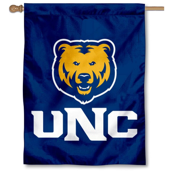UNC Bears Double Sided House Flag is a vertical house flag which measures 30x40 inches, is made of 2 ply 100% polyester, offers screen printed NCAA team insignias, and has a top pole sleeve to hang vertically. Our UNC Bears Double Sided House Flag is officially licensed by the selected university and the NCAA.
