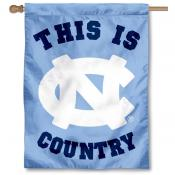 UNC This is Tar Heel Country House Flag