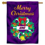 UNI Panthers Happy Holidays Banner Flag