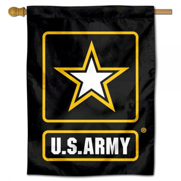 "United States Army Star House Flag is a double sided vertical house flag which measures 30"" x 40"" inches, is made of thick 100% polyester, offers screen printed NCAA team insignias, and has a top pole sleeve to hang vertically. Our United States Army Star House Flag is officially licensed by the selected university and the NCAA and is double sided."