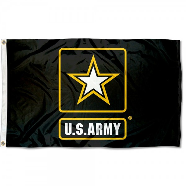 United States Army Star Logo Mark Flag measures 3x5 feet, is made of 100% polyester, offers quadruple stitched flyends, has two metal grommets, and offers screen printed logos and insignias. Our United States Army Star Logo Mark Flag is officially licensed by the selected university and NCAA.