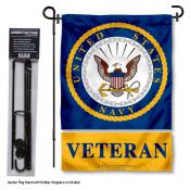 United States Navy Veteran Garden Flag and Stand