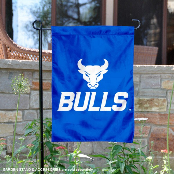 University at Buffalo Garden Flag is 13x18 inches in size, is made of 2-layer polyester, screen printed university athletic logos and lettering, and is readable and viewable correctly on both sides. Available same day shipping, our University at Buffalo Garden Flag is officially licensed and approved by the university and the NCAA.