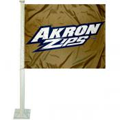 University of Akron Car Flag