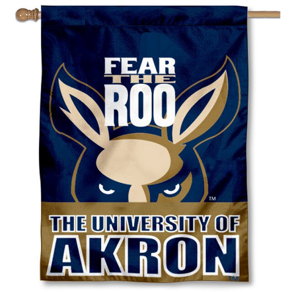 University of Akron House Flag is a vertical house flag which measures 30x40 inches, is made of 2 ply 100% polyester, offers dye sublimated NCAA team insignias, and has a top pole sleeve to hang vertically. Our University of Akron House Flag is officially licensed by the selected university and the NCAA