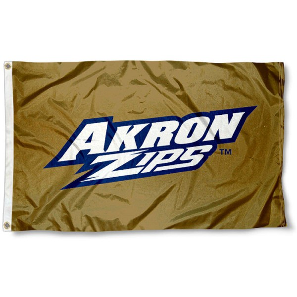 University of Akron Zips Gold Flag measures 3'x5', is made of 100% poly, has quadruple stitched sewing, two metal grommets, and has double sided University of Akron logos. Our University of Akron Zips Gold Flag is officially licensed by the selected university and the NCAA.
