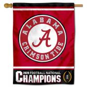 University of Alabama 2020 Football National Champions Banner Flag