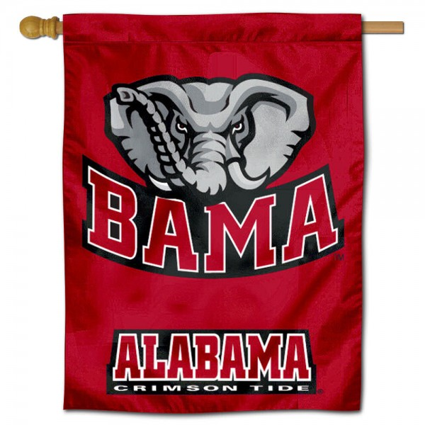 "University of Alabama Crimson Tide Decorative Flag is constructed of polyester material, is a vertical house flag, measures 30""x40"", offers screen printed athletic insignias, and has a top pole sleeve to hang vertically. Our University of Alabama Crimson Tide Decorative Flag is Officially Licensed by University of Alabama Crimson Tide and NCAA."