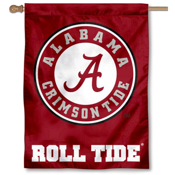 University of Alabama Outdoor Flag is a vertical house flag which measures 30x40 inches, is made of 2 ply 100% polyester, offers screen printed NCAA team insignias, and has a top pole sleeve to hang vertically. Our University of Alabama Outdoor Flag is officially licensed by the selected university and the NCAA.