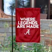University of Alabama Where Legends are Made Garden Flag
