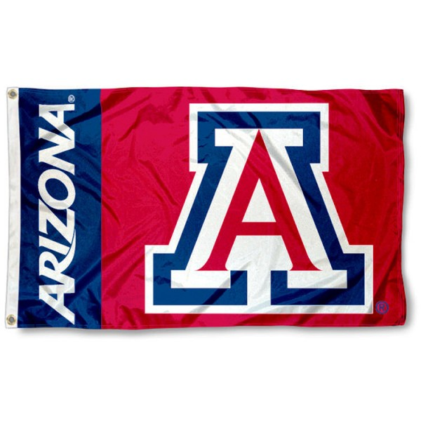 University of Arizona Wildcats 3x5 Flag is made of 100% nylon, offers quad stitched flyends, measures 3x5 feet, has two metal grommets, and is viewable from both side with the opposite side being a reverse image. Our University of Arizona Wildcats 3x5 Flag is officially licensed by the selected college and NCAA.