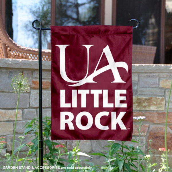 University of Arkansas at Little Rock Garden Flag is 13x18 inches in size, is made of 2-layer polyester, screen printed university athletic logos and lettering, and is readable and viewable correctly on both sides. Available same day shipping, our University of Arkansas at Little Rock Garden Flag is officially licensed and approved by the university and the NCAA.
