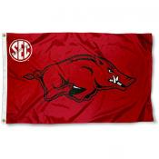 University of Arkansas SEC Logo Flag