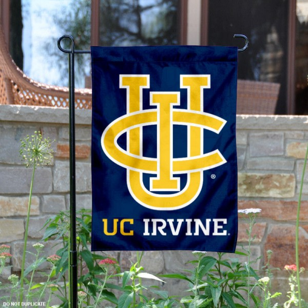 University of California Irvine Blue Garden Flag is 13x18 inches in size, is made of 2-layer polyester, screen printed university athletic logos and lettering, and is readable and viewable correctly on both sides. Available same day shipping, our University of California Irvine Blue Garden Flag is officially licensed and approved by the university and the NCAA.