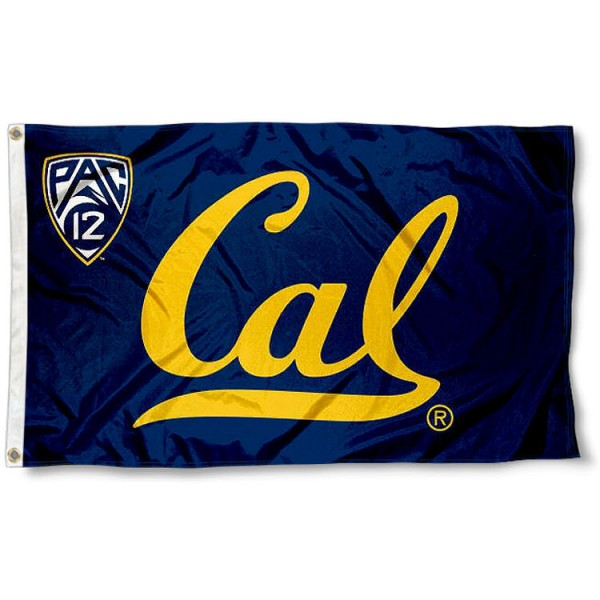 University of California Pac 12 Flag measures 3'x5', is made of 100% poly, has quadruple stitched sewing, two metal grommets, and has double sided Team University logos. Our University of California Pac 12 Flag is officially licensed by the selected university and the NCAA.