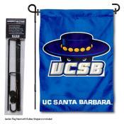 University of California Santa Barbara Garden Flag and Stand