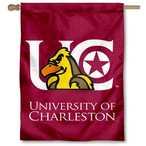 University of Charleston Banner Flag is a vertical house flag which measures 30x40 inches, is made of 2 ply 100% polyester, offers dye sublimated NCAA team insignias, and has a top pole sleeve to hang vertically. Our University of Charleston Banner Flag is officially licensed by the selected university and the NCAA.