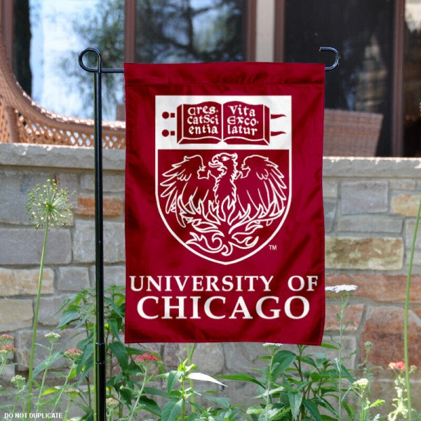 University of Chicago Garden Flag is 13x18 inches in size, is made of 2-layer polyester, screen printed University of Chicago athletic logos and lettering. Available with Same Day Express Shipping, Our University of Chicago Garden Flag is officially licensed and approved by University of Chicago and the NCAA.